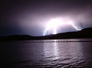 Lightening over Lake Powell