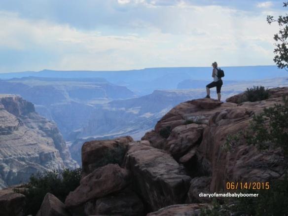 Torweap Overlook hiker 2