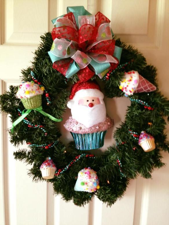 cupcake santa